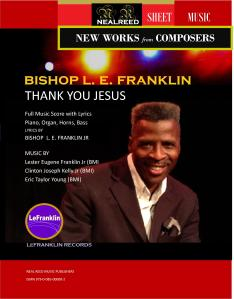 Sheet Music - THANK YOU JESUS - Franklin Kelly Young - cover1